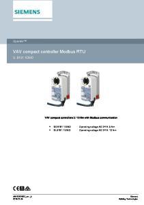 VAV compact controller Modbus RTU
