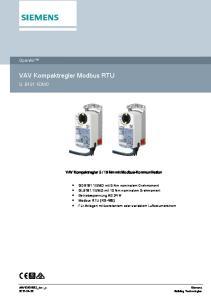 VAV Kompaktregler Modbus RTU