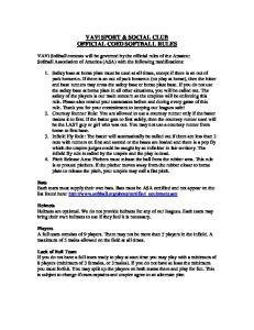 VAVi SPORT & SOCIAL CLUB OFFICIAL COED SOFTBALL RULES