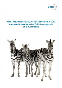 VBDO Responsible Supply Chain Benchmark a comparative investigation into CSR in the supply chain of 40 multinationals