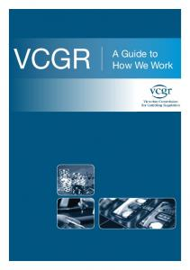 VCGR. A Guide to How We Work