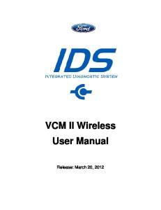VCM II Wireless User Manual