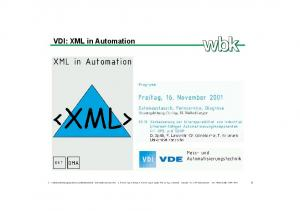 VDI: XML in Automation