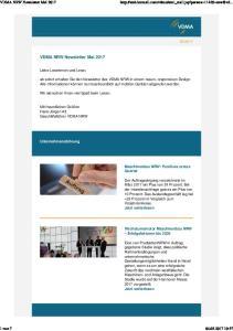 VDMA NRW Newsletter Mai 2017