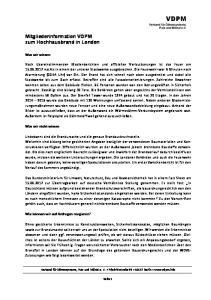 VDPM. Mitgliederinformation VDPM zum Hochhausbrand in London. Was wir wissen