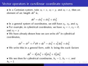 Vector operators in curvilinear coordinate systems
