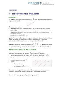 VECTORES 7.1 LOS VECTORES Y SUS OPERACIONES