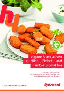Vegane Alternativen zu Milch-, Fleisch- und Feinkostprodukten