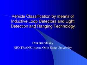 Vehicle Classification by means of Inductive Loop Detectors and Light Detection and Ranging Technology
