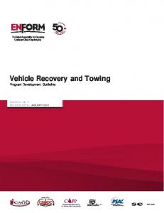 Vehicle Recovery and Towing Program Development Guideline