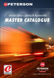 Vehicle Safety Lighting & Accessories MASTER CATALOGUE