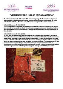 VEINTICUATRO HORAS EN SALAMANCA