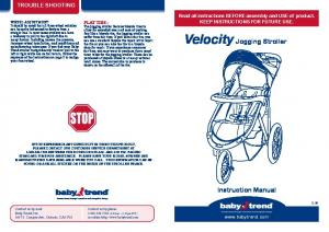 Velocity Jogging Stroller