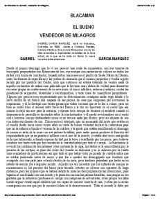 VENDEDOR DE MILAGROS