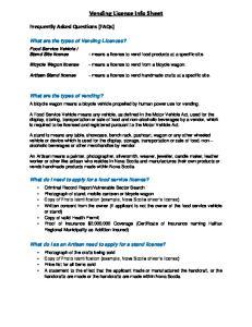 Vending License Info Sheet