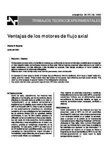 Ventajas de los motores de flujo axial