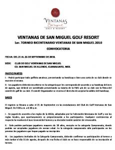 VENTANAS DE SAN MIGUEL GOLF RESORT