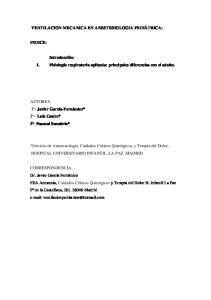 VENTILACION MECANICA EN ANESTESIOLOGIA PEDIÁTRICA: Introducción: I. Fisiología respiratoria aplicada: principales diferencias con el adulto