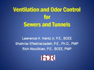 Ventilation and Odor Control for Sewers and Tunnels