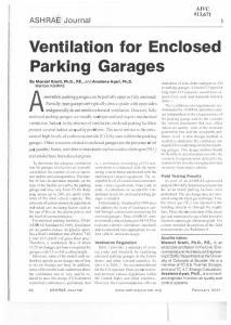 Ventilation for Enclosed Parking Garages
