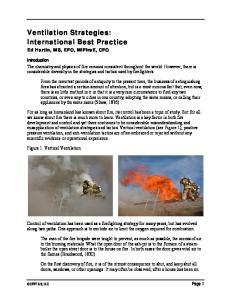 Ventilation Strategies: International Best Practice