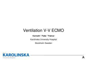 Ventilation V-V ECMO