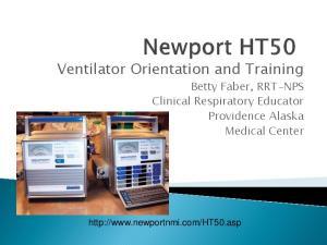 Ventilator Orientation and Training