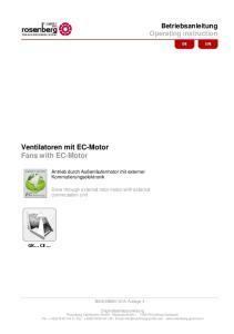Ventilatoren mit EC-Motor Fans with EC-Motor