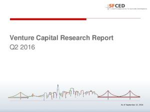 Venture Capital Research Report Q2 2016