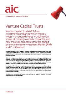 Venture Capital Trusts