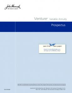 Venture. Prospectus. Variable Annuity. Log on to  and sign up for edelivery today!