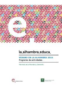 VERANO EN LA ALHAMBRA 2016 Programa de actividades