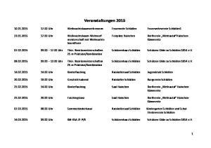 Veranstaltungen 2015