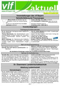 Veranstaltungen des vlf Bayern