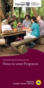 Veranstaltungen im Naturpark Natur ist unser Programm