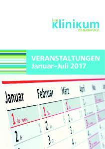 VERANSTALTUNGEN Januar Juli 2017