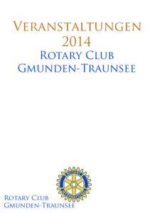 Veranstaltungen Rotary Club Gmunden-Traunsee. Rotary Club Gmunden-Traunsee