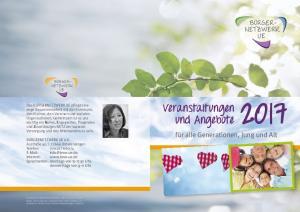 Veranstaltungen und Angebote 2017