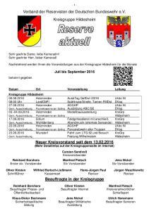 Verband der Reservisten der Deutschen Bundeswehr e.v. Kreisgruppe Hildesheim