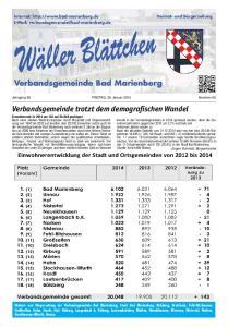 Verbandsgemeinde trotzt dem demografischen Wandel