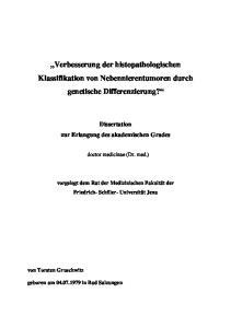 Verbesserung der histopathologischen Klassifikation von Nebennierentumoren durch genetische Differenzierung?