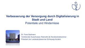Verbesserung der Versorgung durch Digitalisierung in Stadt und Land Potentiale und Hindernisse