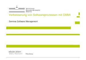 Verbesserung von Softwareprozessen mit CMMI