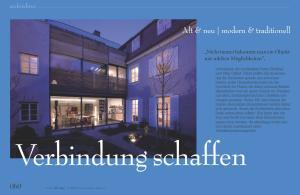 Verbindung schaffen. Alt & neu modern & traditionell. 060 inspirationdesign! architektur