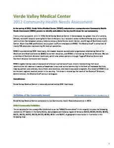 Verde Valley Medical Center 2012 Community Health Needs Assessment
