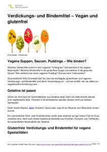 Verdickungs- und Bindemittel Vegan und glutenfrei