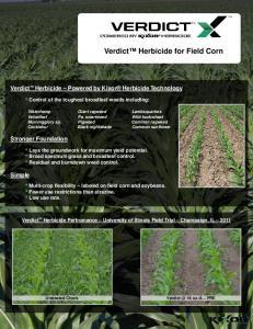 Verdict Herbicide for Field Corn
