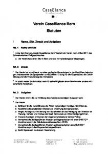 Verein CasaBlanca Bern Statuten