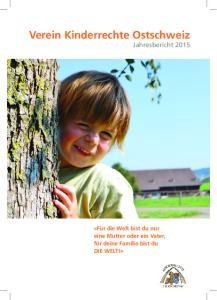 Verein Kinderrechte Ostschweiz Jahresbericht 2015