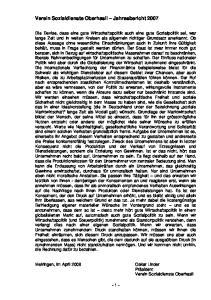 Verein Sozialdienste Oberhasli Jahresbericht 2007